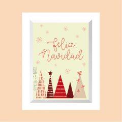 Feliz Navidad – 4 árboles v01 …………………… REF: 110405