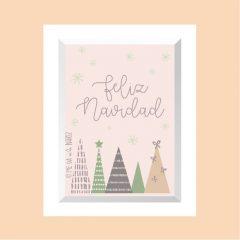 Feliz Navidad – 4 árboles v02 …………………… REF: 110406