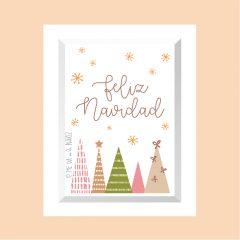 Feliz Navidad – 4 árboles v03 …………………… REF: 110407
