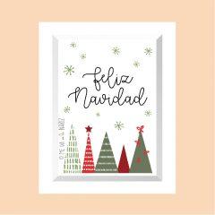 Feliz Navidad – 4 árboles v04 …………………… REF: 110408